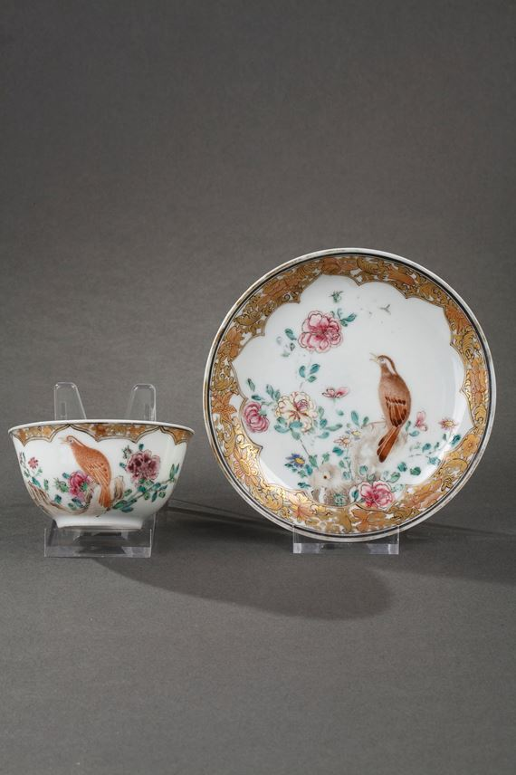Cup and saucer Famille rose porcelain | MasterArt