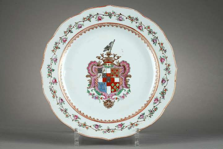 Porcelain dish, Chinese export