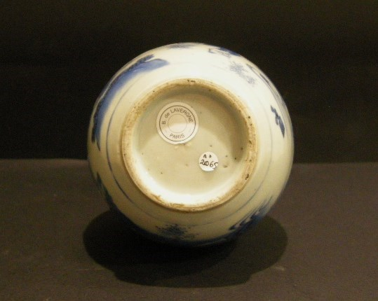 "Porcelain vase ""blue and white - transitional period 