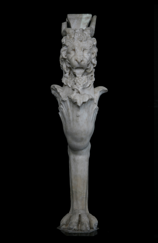 A monopodium depicting a lion leg and his protome