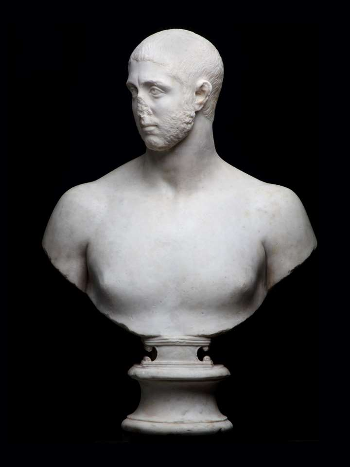 Bust of a Man, probably Severus Alexander (emperor from 222 to 235 A.D.)