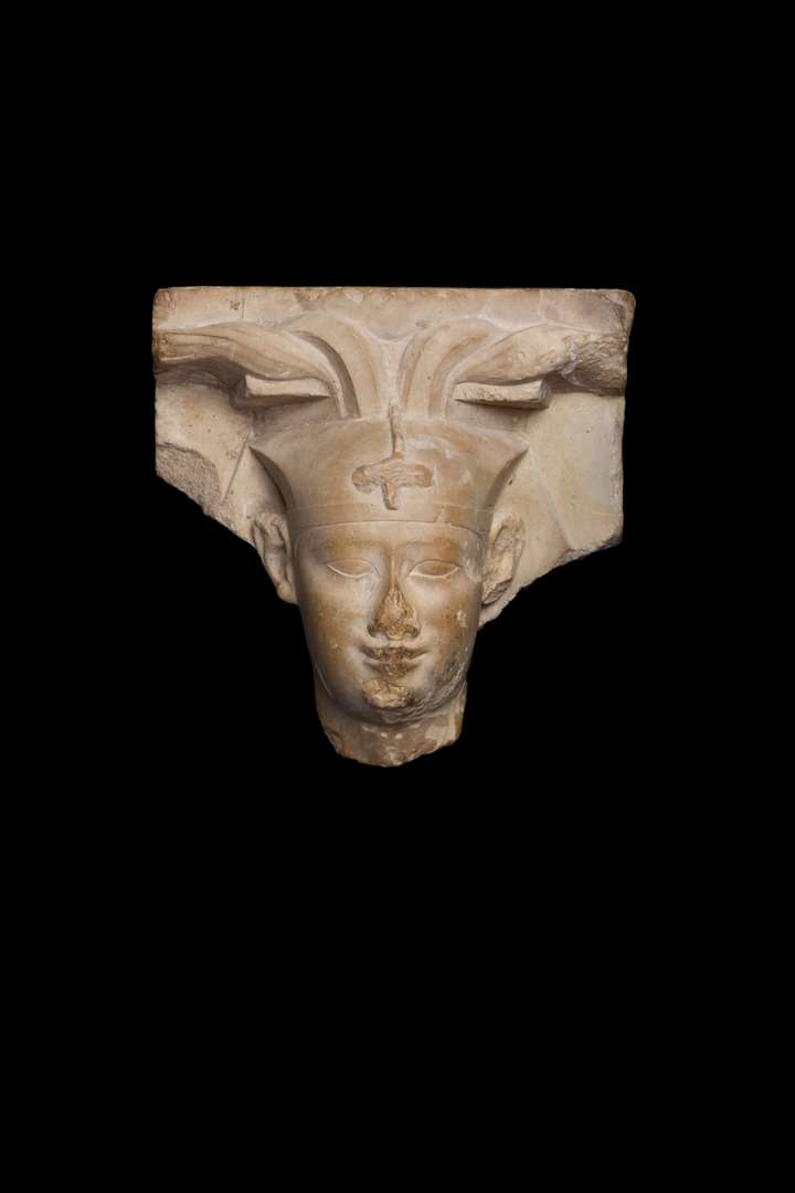 Sculptor's model depicting the head of a pharaoh - Ptolemaic period