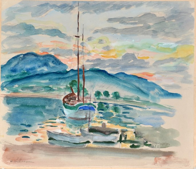 Henri Lebasque - The Bay of Saint-Tropez  La baie de Saint-Tropez | MasterArt
