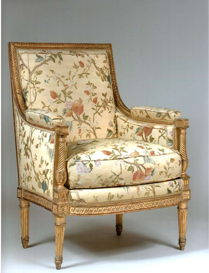 Bergere in carved and gilt wood attributed to Séné