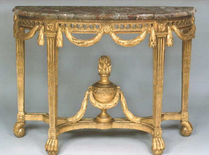 A FINE AND RARE LOUIS XVI GILTWOOD CONSOLE TABLE | MasterArt