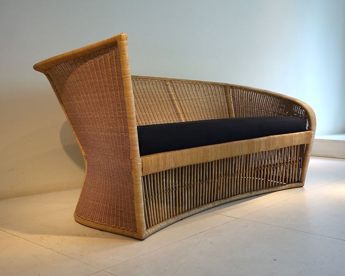 Louis Sognot - Wicker sofa | MasterArt