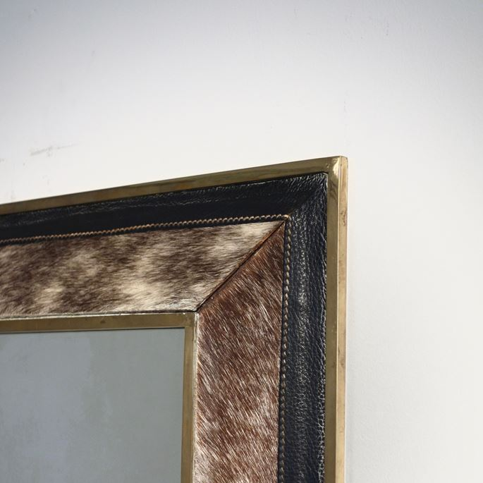 Mathieu Mategot - Horse Guard model mirror, brass, simili leather and fur, 1959 | MasterArt