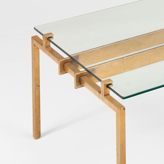 Marc Du Plantier - Rare coffee table, metal base | MasterArt
