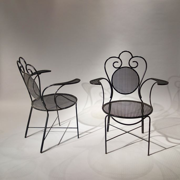 Mathieu Mategot - Set of 2 chairs and 2 armchairs | MasterArt