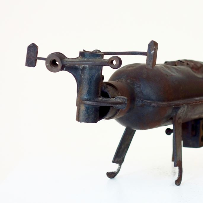 Georges Jouve - Unique sculpture, Toro, made with mechanical parts | MasterArt