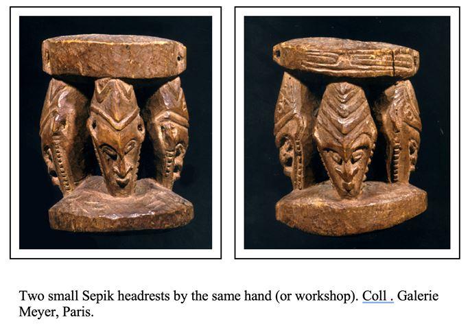 Sepik Headrest with 3 Figures | MasterArt