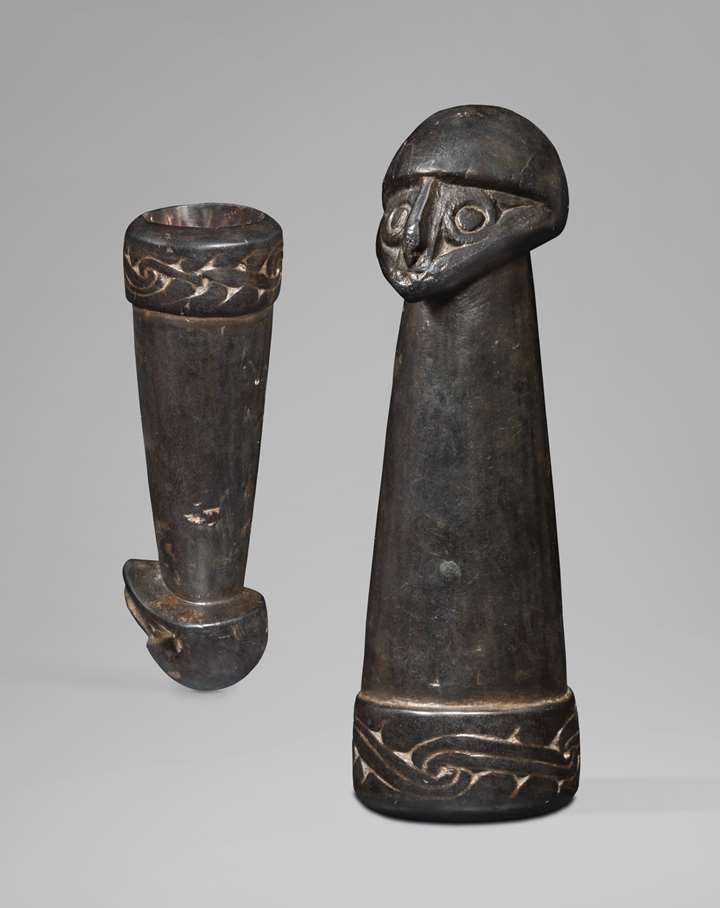 Betel Nut Mortar with a Human Head
