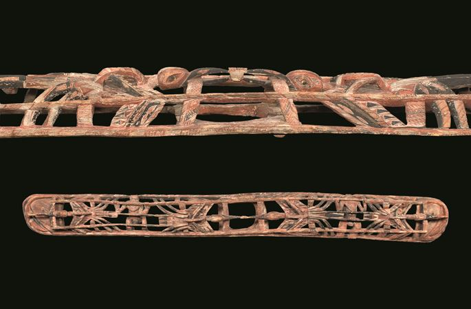 Large horizontal Malagan frieze, or kobo-kobor, from an initiation house | MasterArt