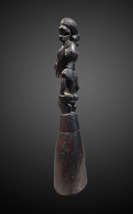 A food pounder representing a male ancestor figure. | MasterArt