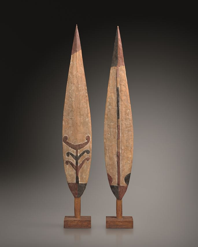 Pair of Ceremonial Paddle Blades | MasterArt