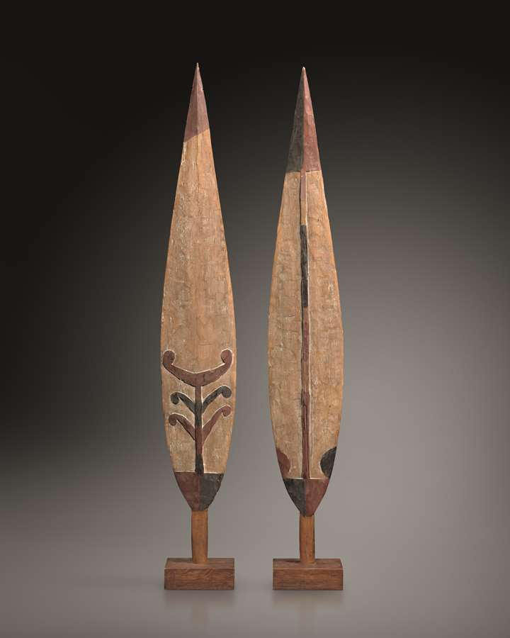 Pair of Ceremonial Paddle Blades