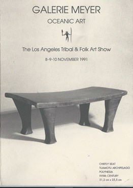Galerie Meyer exhibiting at the Los Angeles Tribal & Folk Art Show 1991