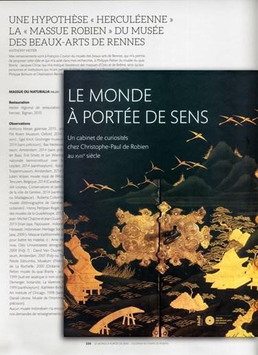 UNE HYPOTHESE « HERCULEENNE » LA « MASSUE ROBIEN » DU MUSEE  DES BEAUX-ARTS DE RENNES  par Anthony Meyer