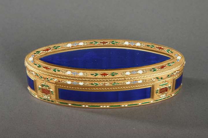 Gold and Enamel Snuffbox