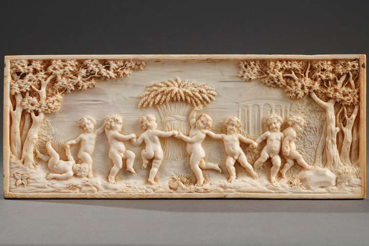 Early 19th Century continental ivory plaque.