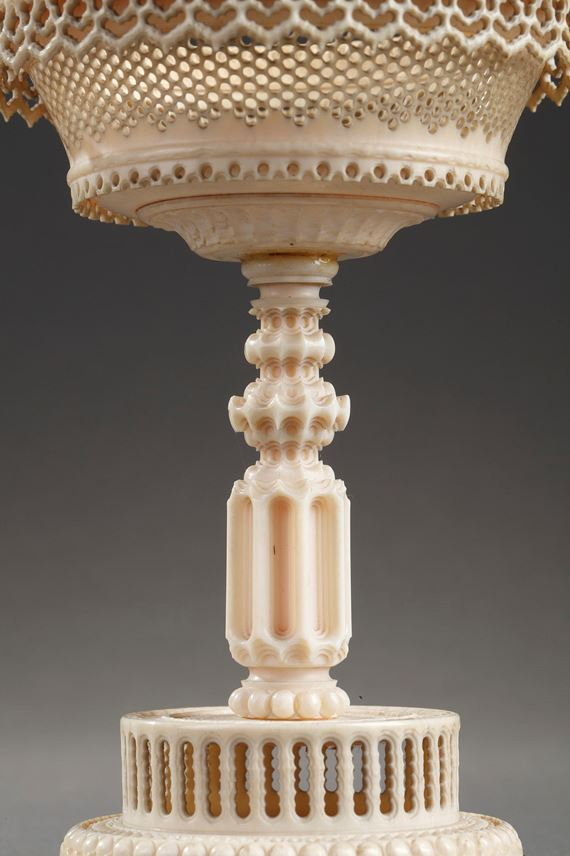 Early 19th century TURNED and carved IVORY CUPs | MasterArt
