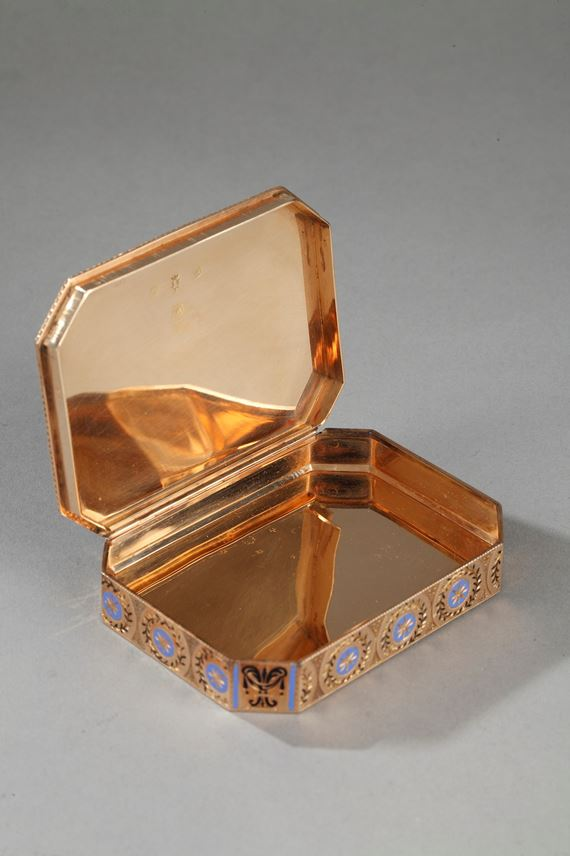 Exceptional Gold and enamel snuff-box.  | MasterArt