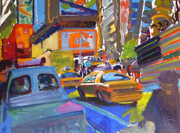 Tom Christopher - Police Vehicule Near Recruiting Station Times Square  | MasterArt