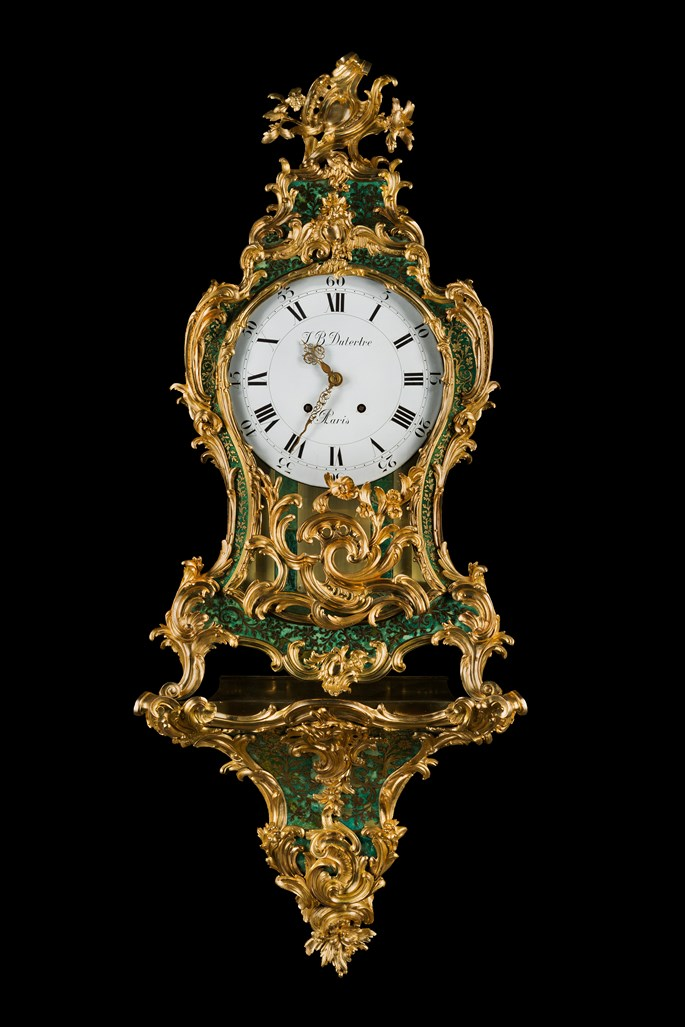 Balthazar Lieutaud - A Louis XV ormolu-mounted green stained horn bracket clock | MasterArt