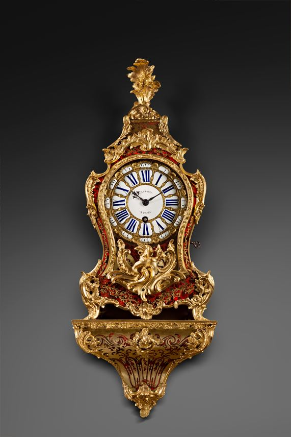 A Louis XV ormolu-mounted tortoise-shell cartel clock and bracket | MasterArt