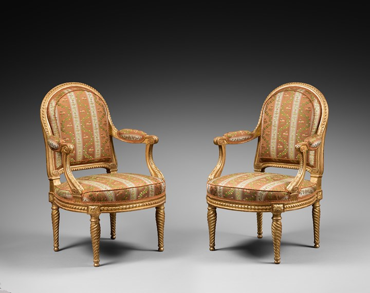 A fine Louis XVI pair of armchairs