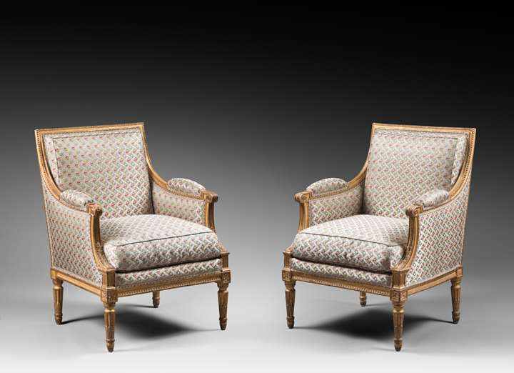 A louis XVI pair of marquises attributed to Boulard