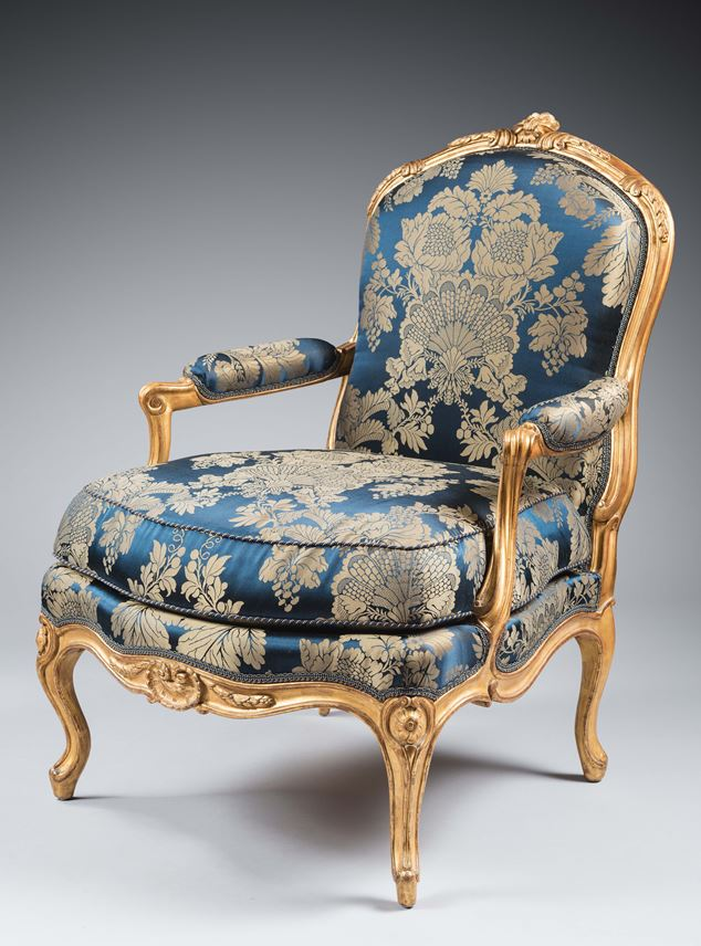 Jean-Baptiste Gourdin - A set of four Louis XV armchairs  | MasterArt