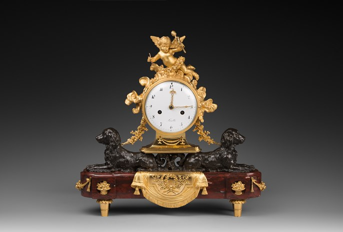 Louis XVI patinated and gilded bronze clock | MasterArt