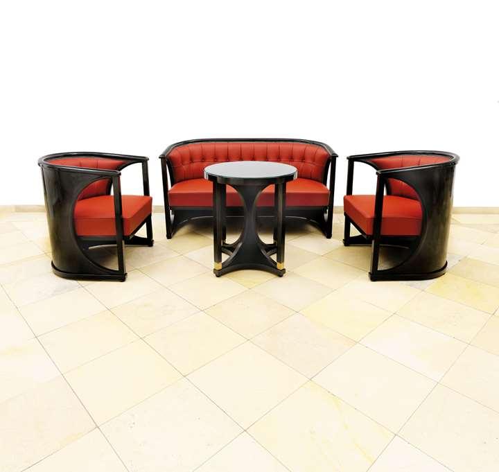 Sitting Room Suite (Josef Hoffmann attributed) with Table (Josef Hoffmann)