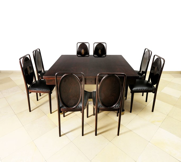 Josef  Hoffmann - Dining Room Table and Eight Chairs | MasterArt