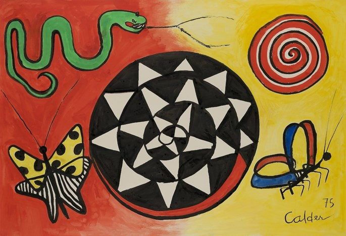 Alexander Calder - Butterfly and Serpent | MasterArt