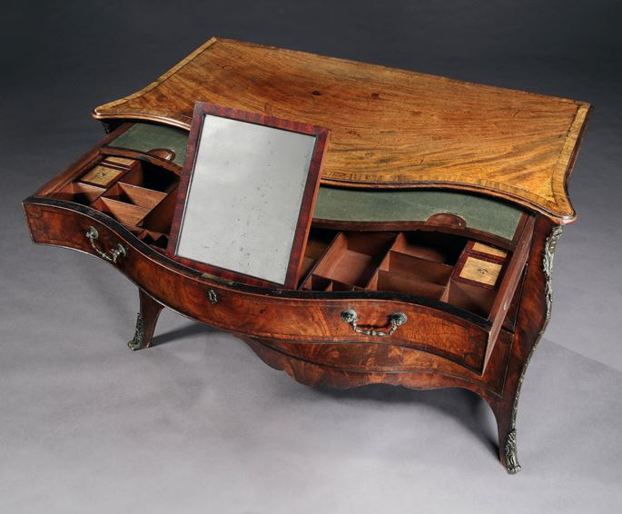 A George III period mahogany serpentine commode Attributed to Henry Hill of Marlborough  | MasterArt