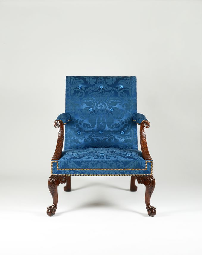 An Exceptional Pair of George II Period Carved Walnut 'Gainsborough' Armchairs Attributed to the Workshop of Giles Grendey | MasterArt