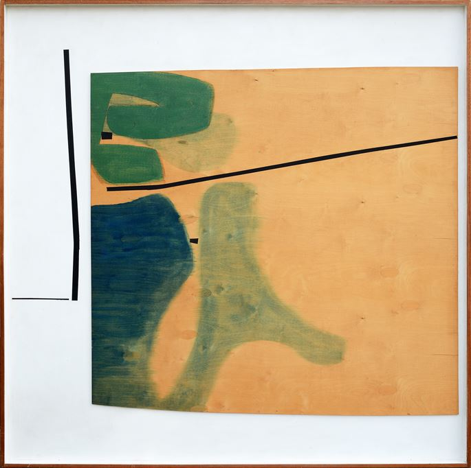 Victor Pasmore  - Green and Indigo Development no. 3 | MasterArt