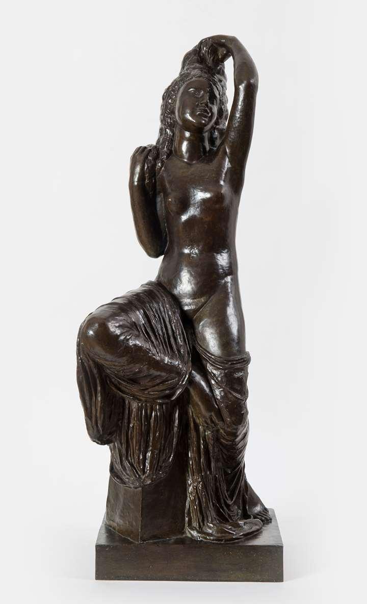 Bronze à patine brun nuancé vert 64 x 19 cm Signé et numéroté de la main de l'artiste au dos : J. Bernard ; 1
