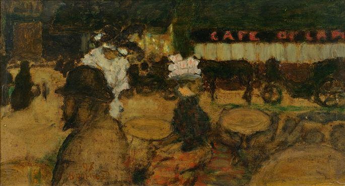 Pierre BONNARD - Toulouse-Lautrec au café (La Terrasse) | MasterArt