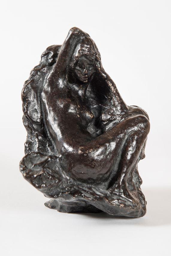 Pierre BONNARD - Baigneuse assise devant un rocher, son bras droit replié derrière la tête | MasterArt