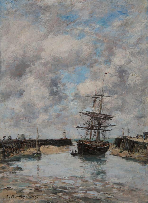 Eugène  BOUDIN - Trouville, Chenal marée basse | MasterArt
