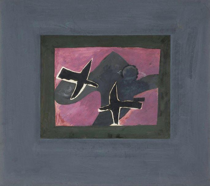 Georges Braque - Les deux oiseaux noirs | MasterArt