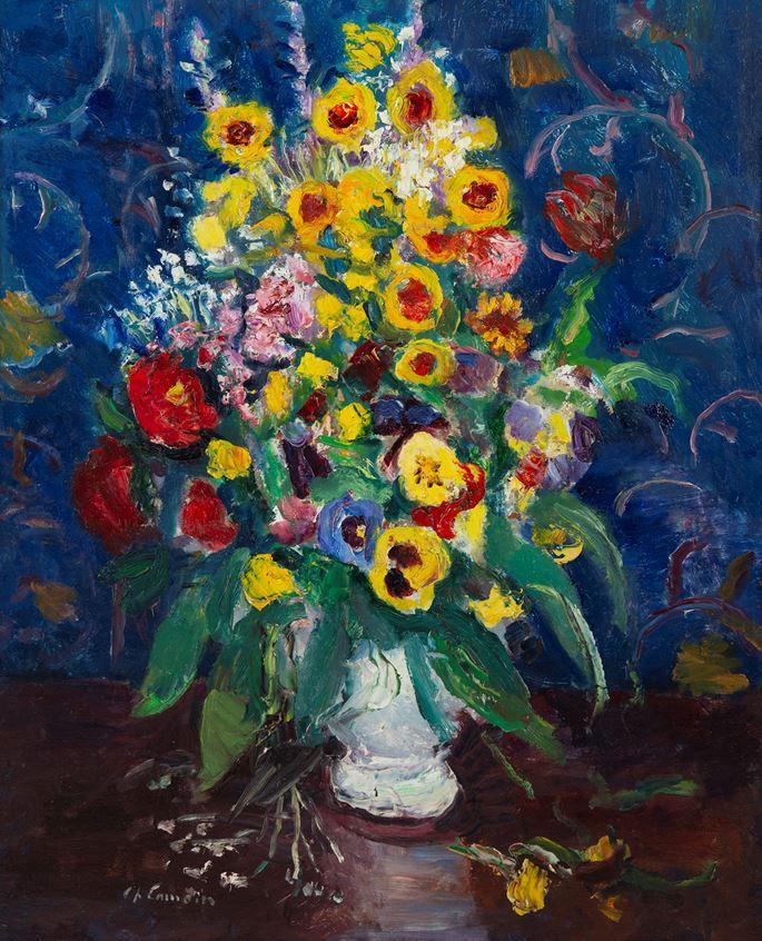 Charles Camoin - Fleurs dans un vase blanc | MasterArt