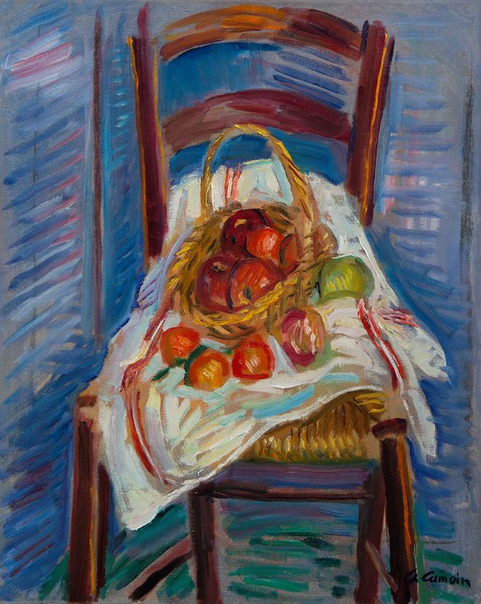 Charles Camoin - Corbeille de fruits sur une chaise | MasterArt