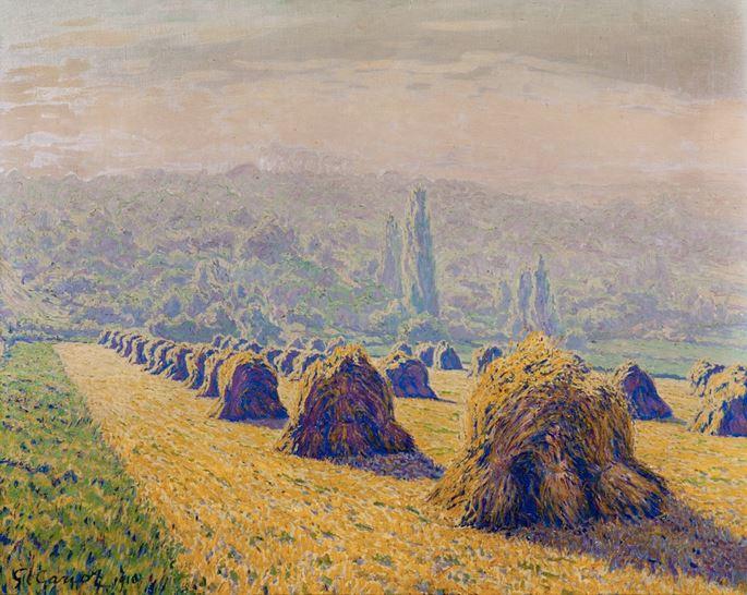 Gustave Cariot - Les meules, soir d'été | MasterArt