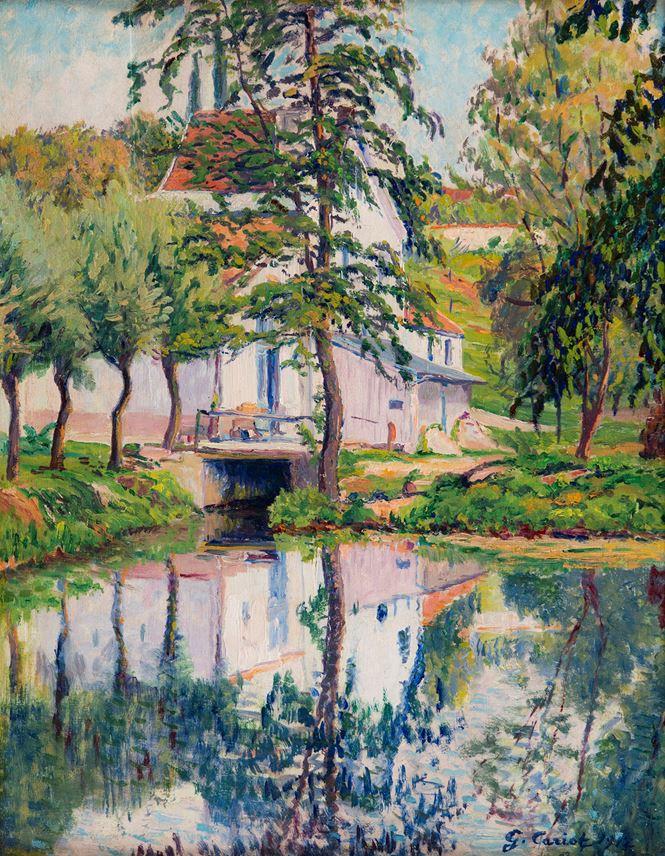 Gustave Cariot - Moulin de Périgny, réflexions sur l'eau | MasterArt
