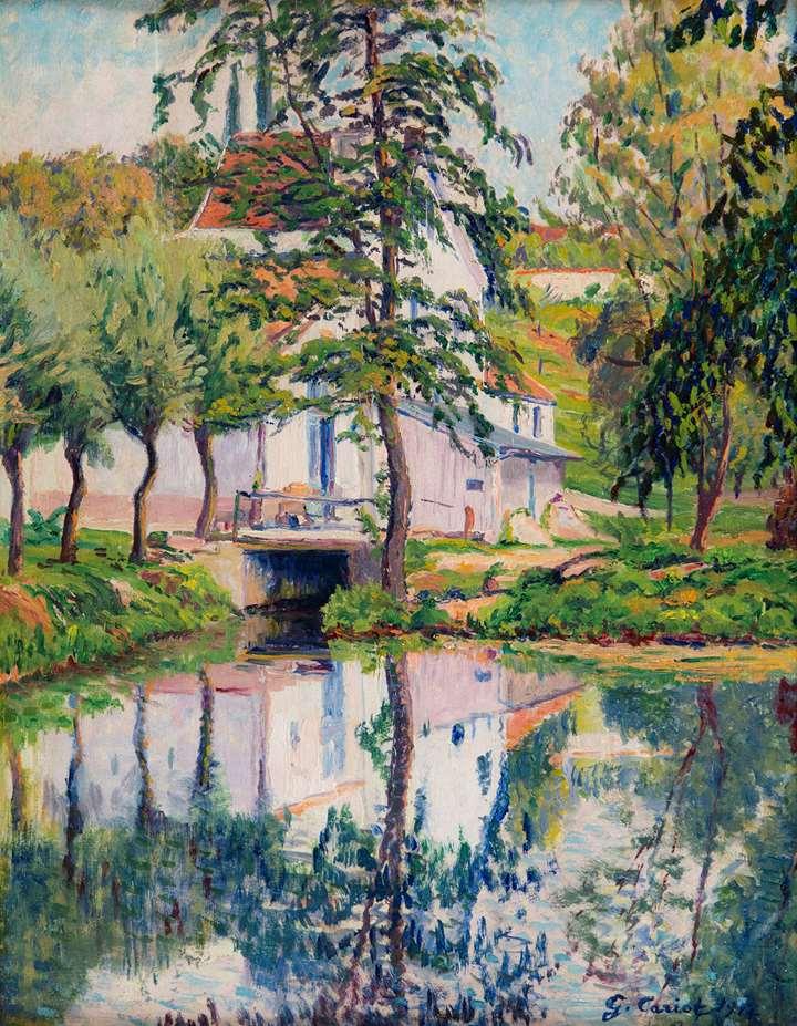 Moulin de Périgny, réflexions sur l'eau