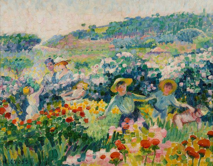 Henri-Edmond Cross - La haie de roses | MasterArt